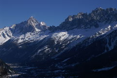 Skiline van Chamonix Royalty-vrije Stock Fotografie