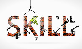 Skill. Abstract illustration of skill building construction site stock illustration