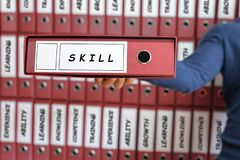 Skill Business Concept. Skill concept. Stock Image