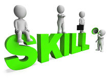 Skill Characters Shows Expertise Skilled And Competence Royalty Free Stock Photo