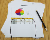 Skill circle chart analysis report in the organization Stock Photo
