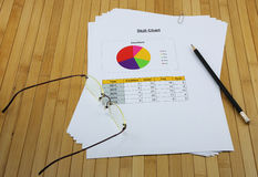 Skill circle chart analysis report in the organization of your c Stock Photos