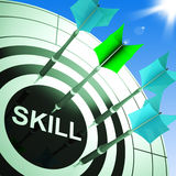 Skill On Dartboard Showing Expertise. Or Skilled stock illustration
