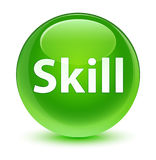 Skill glassy green round button Stock Image