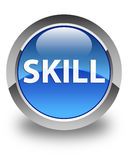 Skill glossy blue round button Stock Photography