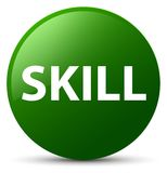 Skill green round button Stock Images