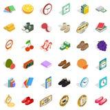 Skill icons set, isometric style Stock Images