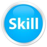 Skill premium cyan blue round button. Skill isolated on premium cyan blue round button abstract illustration royalty free illustration