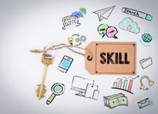 Skill. Key on a white background Stock Image