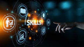 Free Skill Knowledge Ability Business Internet Technology Concept Royalty Free Stock Photos - 123697468