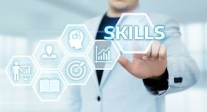 Skill Knowledge Ability Business Internet technology Concept Stock Photo