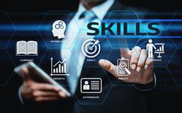 Skill Knowledge Ability Business Internet technology Concept.  Royalty Free Stock Photo
