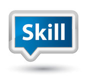 Skill prime blue banner button. Skill isolated on prime blue banner button abstract illustration Stock Images