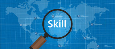 Skill shortages find search talented worker qualification Royalty Free Stock Images