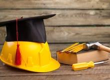 Skill. Apprenticeship graduate academic achievement apprentice black Royalty Free Stock Photo