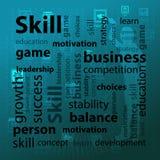 Skill and skills concept. Vector illustration Stock Photos