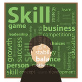 Skill and skills concept. Vector illustration Royalty Free Stock Image