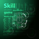 Skill and skills concept. Vector illustration Royalty Free Stock Photo
