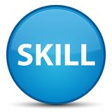Skill special cyan blue round button. Skill isolated on special cyan blue round button abstract illustration Stock Image