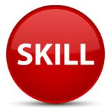 Skill special red round button Royalty Free Stock Photo