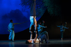 Skill support-Acrobatic showBaixi Dream Night Stock Images