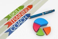 Skill training concept royalty free illustration