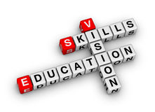 Skill vision education Stock Photo