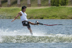 Skill of Waterski Royalty Free Stock Image