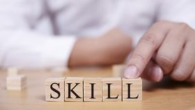 Skill. Words Typography Concept stock images