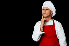 Skilled chef thinking something Royalty Free Stock Photos