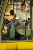 Skilled excavator operator Stock Image