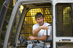 Skilled heavy equipment operator Stock Images