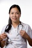 Skilled Nurse. A skilled nurse on duty Stock Images