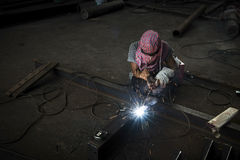 Skilled welder . Royalty Free Stock Photography