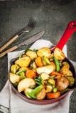 Skillet-ψημένα λαχανικά πτώσης και χειμώνα Στοκ Εικόνες