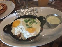 Skillet завтрака стоковое изображение