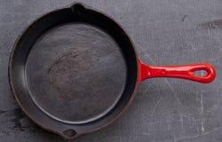 Skillet литого железа Стоковые Фото
