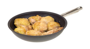 Skillet with cooked chicken thighs Royalty Free Stock Images