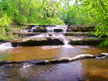 Skillet Creek Cascades in Wisconsin. Skillet Creek Falls on a beautiful spring day in Wisconsin stock photography