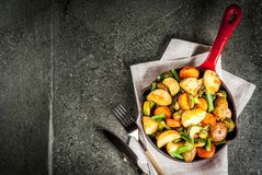 Skillet-Roasted Fall and Winter Vegetables Royalty Free Stock Photos