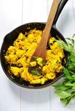 skillet omlette литого железа стоковое фото