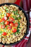 Tex-Mex Pasta Skillet Royalty Free Stock Photography