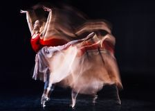 Skillful female dancer dancing ballet Stock Image