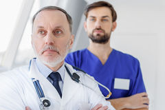 Skillful general practitioners working at hospital Royalty Free Stock Image