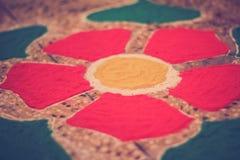 Skillful rangoli for diwali celebration Stock Image