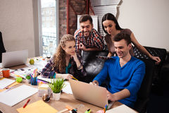 Skillful workers are using modern technologies Royalty Free Stock Photography