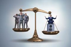 Skillnaden mellan det rika och fattiga folkbegreppet royaltyfri illustrationer