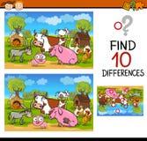 Skillnader testar med lantgårddjur Arkivbild