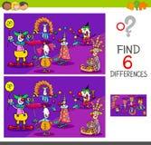 Skillnadlek med clowntecken vektor illustrationer