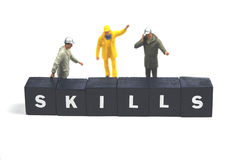 Skills. Use all your skills while working Royalty Free Stock Image